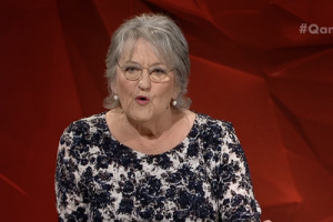 Germaine Greer on QandA (11/4/16). Photo by ABC.