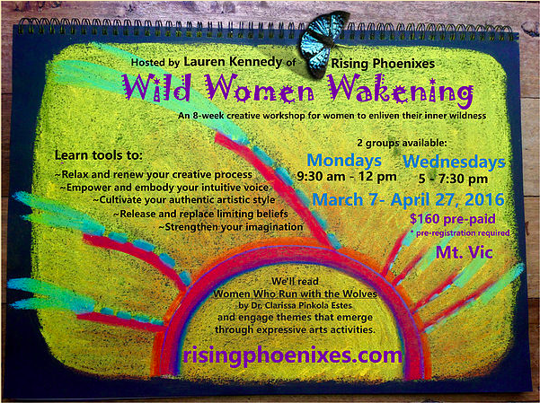 Wild Women Wakening poster workshop.